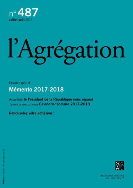N°487 – Mémento 2017-2018