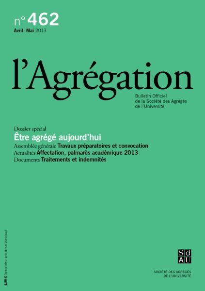 N°462 – Être agrégé aujourd'hui