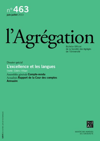 N°463 – L'excellence et les langues