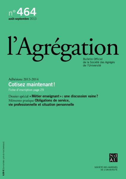 N°464 – Métier enseignant : une discussion vaine ?