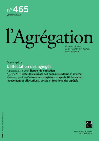 N°465 – L'affectation des agrégés