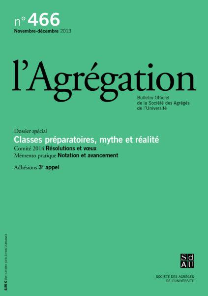 N°466 – Classes préparatoires : mythe et réalité