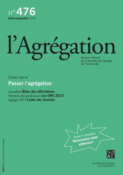 N°476 – Passer l'agrégation