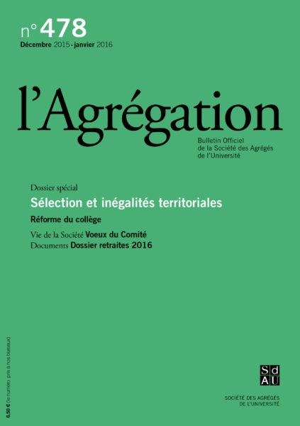 N°478 – Sélection et inégalités territoriales