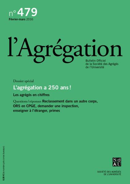 N°479 – L'agrégation a 250 ans !