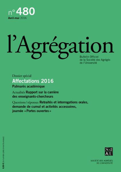 N°480 – Affectations 2016