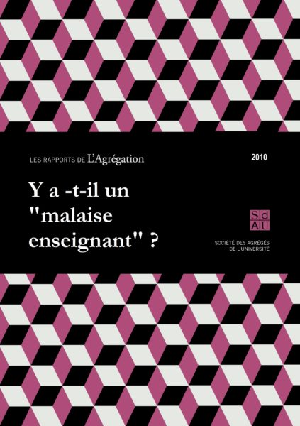 Rapport – Malaise enseignant