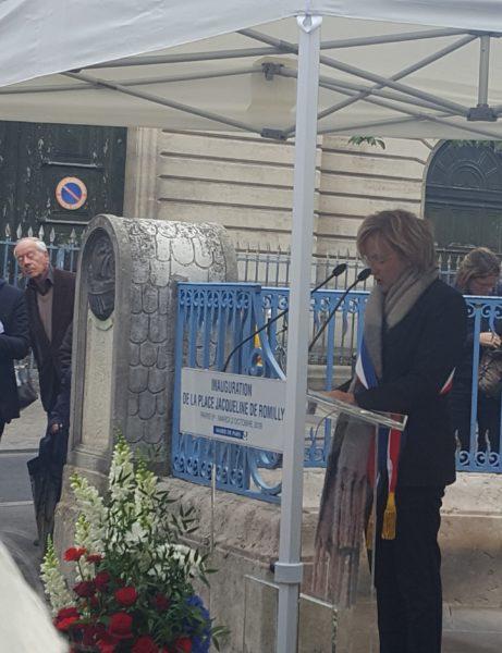 Inauguration de la place Jacqueline de Romilly