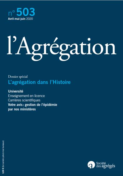 N°503 – L'agrégation dans l'Histoire